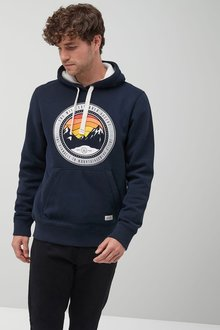 Next Navy Graphic Overhead Hoody