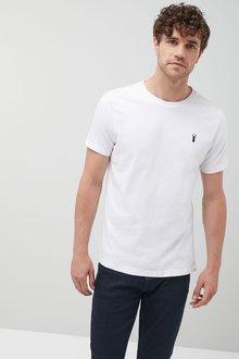 Next White Heavier Weight Logo T-Shirt