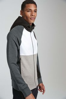 Next Block Zip Through Hoody
