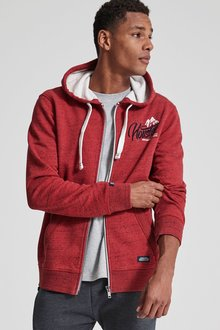 Next Fabric Interest Graphic Zip Through Hoody