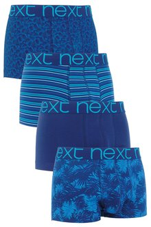 Next Blue Leaf Hipsters Four Pack