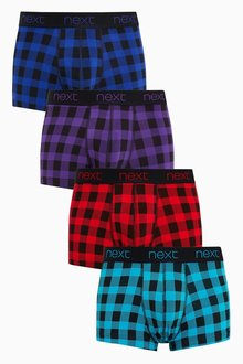 Next Buffalo Check Hipsters Four Pack