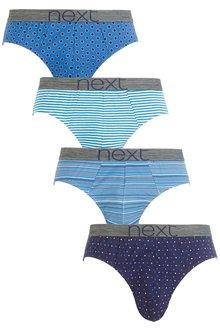 Next Fashion Mixed Briefs Four Pack