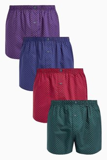 Next Small Spot Woven Boxers Four Pack
