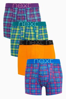 Next Bright Check A-Fronts Four Pack