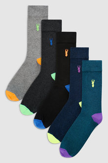 Next Heel And Toe Socks Five Pack