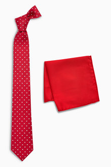 Next Spot Signature Tie And Pocket Square