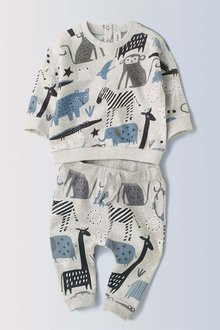 Next Animal Crew And Joggers Set (0mths-2yrs)