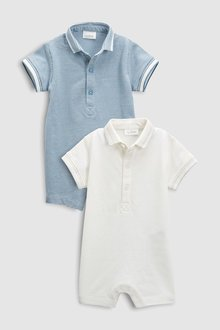 Next Poloshirt Rompers Two Pack (0mths-2yrs)