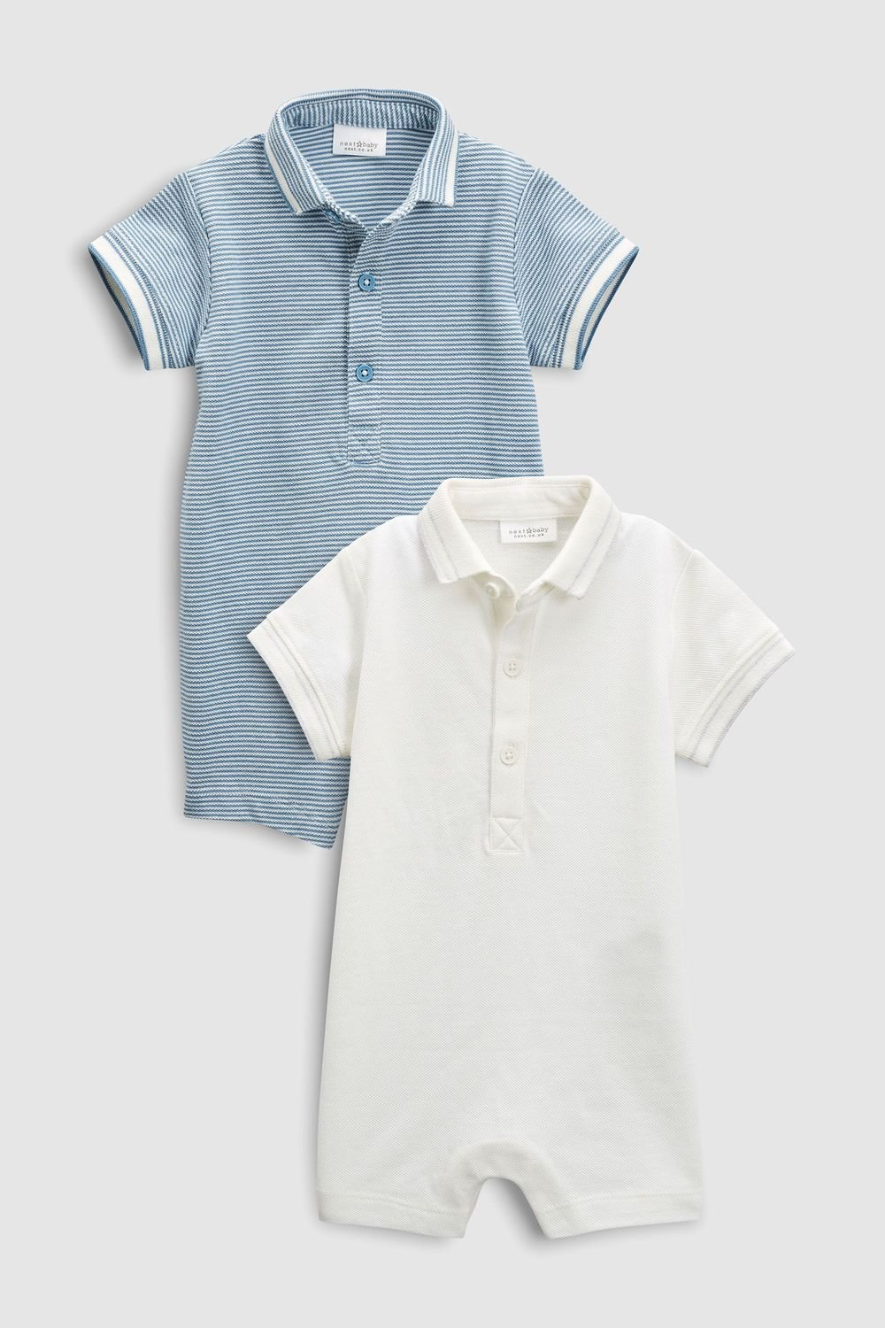 871fb2d24 Next Poloshirt Rompers Two Pack (0mths-2yrs) Online