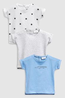 Next Crocodile T-Shirts Three Pack (0mths-2yrs)