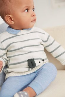 Next Stripe Dog Knit Jumper (0mths-2yrs)
