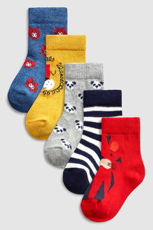 Next Bright Character Socks Five Pack (Younger)