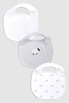 Next Delicate Sheep Regular Bibs Three Pack
