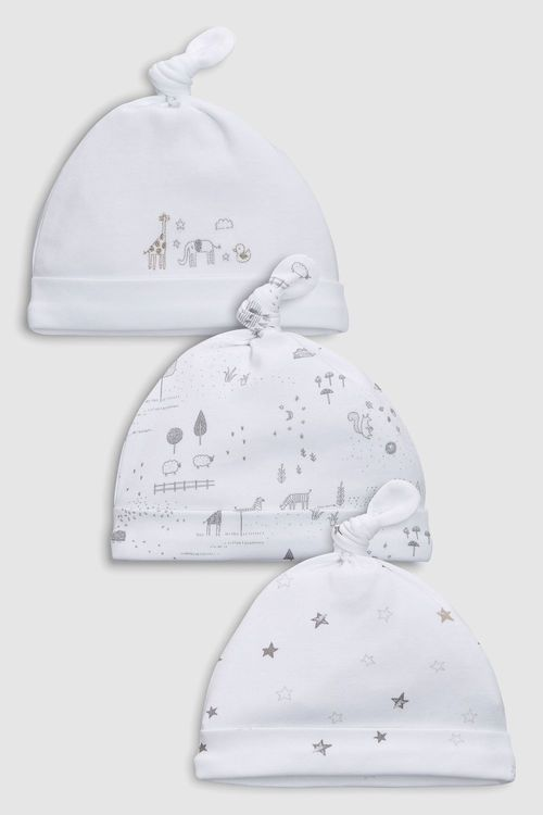 Next Delicate Woodland Tie Top Hats Three Pack (0-12mths)