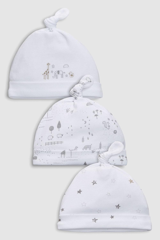 Next Delicate Woodland Tie Top Hats Three Pack (0-12mths) Online ... 92a0e39073da