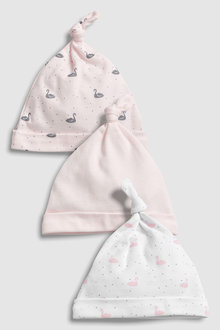 Next Delicate Swan Tie Top Hats Three Pack (0-18mths)