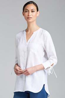Capture Tie Cuff Linen Shirt - 212328