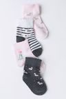 Next Monochrome/Pink Socks Four Pack (Younger)