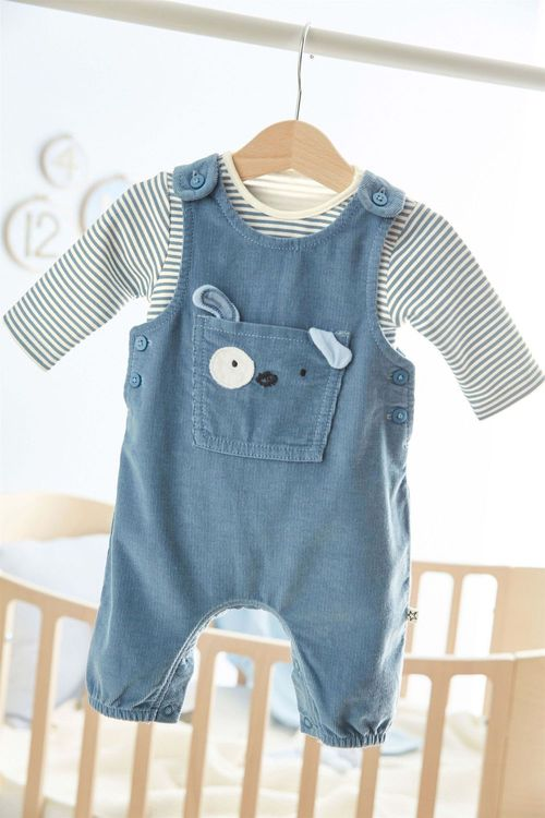 Next Dog Dungarees And Bodysuit Set (0mths-2yrs)