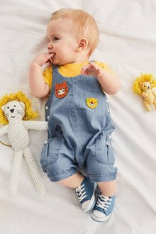 Next Cropped Dungarees And Bodysuit Set (0mths-2yrs)