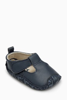 Next Leather T-Bar Pram Shoes (Younger)