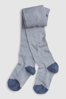 Next Blue Stripe Tights (Older)