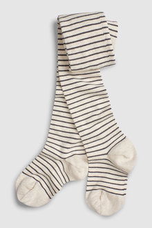 Next Oatmeal Stripe Tights (Older)