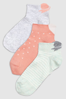 Next Bow Heart Trainer Socks Three Pack (Older)
