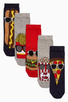 Next Fast Food Socks Five Pack (Older)