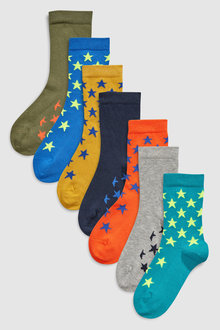 Next Stars Socks Seven Pack (Older)