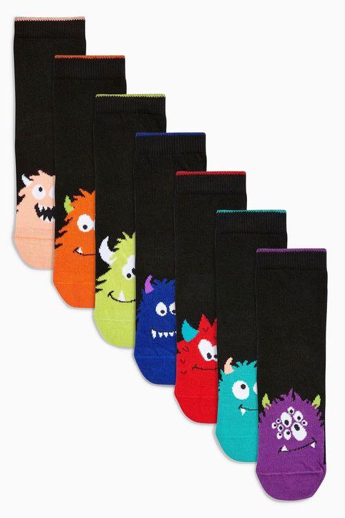 Next Monster Socks Seven Pack (Older)
