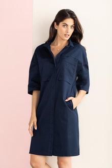 Grace Hill Pocket Detail Shirt Dress - 212402