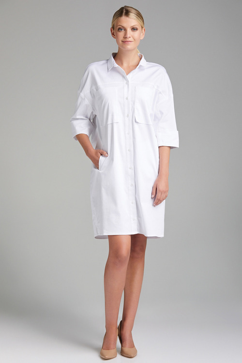 Grace Hill Pocket Detail Shirt Dress