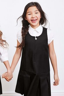 Next Zip Detail Pinny Dresses Two Pack (3-14yrs)