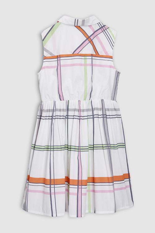 Next White Check Dress (3-16yrs)