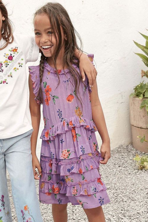 Next Ditsy Ruffle Dress (3-16yrs)