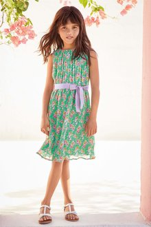 Next Crinkle Floral Dress (3-16yrs)