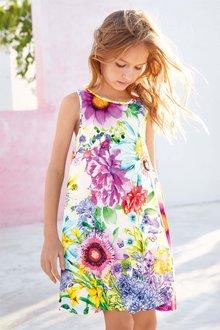Next Embellished Floral Dress (3-16yrs)