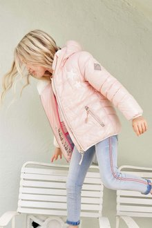 Next Pink Short Padded Jacket (3-16yrs)