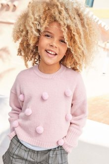 Next Pom Pom Jumper (3-16yrs)