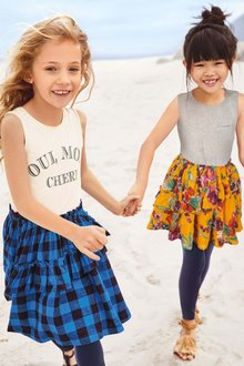 Next Floral Dress And Leggings Set (3-16yrs)