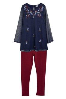 Next Embellished Tunic With Leggings (3-16yrs)