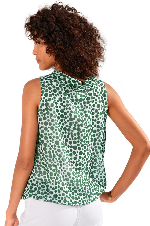 Heine Cowl Neck Spotted Top