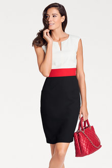 Heine Colour Block Sheath Dress