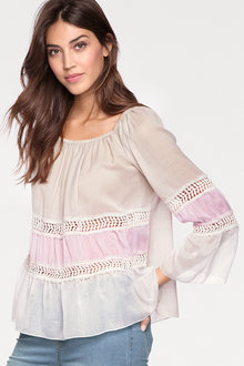 Heine Embellished Peasant Top