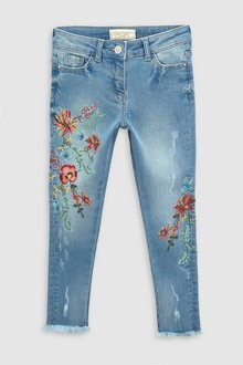 Next Floral Embroidered Skinny Jeans (3-16yrs)