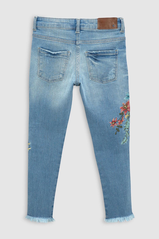 Next Floral Embroidered Skinny Jeans (3-16yrs) Online | Shop EziBuy