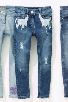 Next Sequin Pocket Skinny Jeans (3-16yrs)
