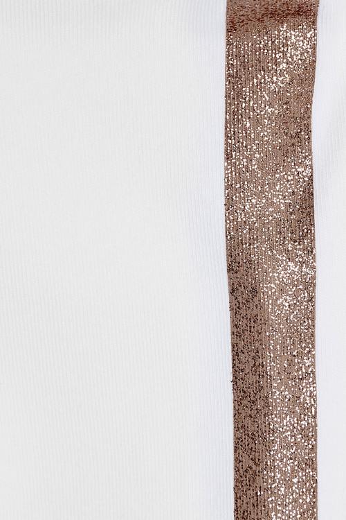 Next Glitter Side Stripe Crop Leggings (3-16yrs)